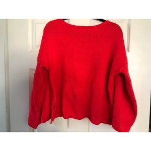 Lou & grey red bell sleeved sweater